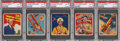 "Non-Sport Cards:Lots, 1933-34 National Chicle ""Sky Birds"" PSA-Graded Group of (5). ..."