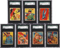 "Non-Sport Cards:Lots, 1933-34 National Chicle ""Sky Birds"" High Grade SGC Group of (7)...."