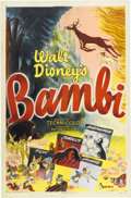 "Movie Posters:Animated, Bambi (RKO, R-1948). One Sheet (27"" X 41"") Style A.. ..."