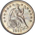 Seated Half Dimes, 1842 H10C MS66 PCGS....