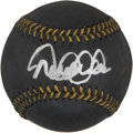 Autographs:Baseballs, Derek Jeter Single Signed Black Baseball. ...