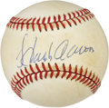 Autographs:Baseballs, Hank Aaron Single Signed Vintage Baseball. ...