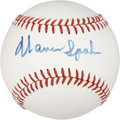 Autographs:Baseballs, Warren Spahn Single Signed Baseball....