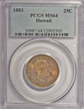 Coins of Hawaii: , 1883 25C Hawaii Quarter MS64 PCGS. PCGS Population (302/239). NGCCensus: (173/196). Mintage: 500,000. (#10987)...