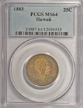 Coins of Hawaii: , 1883 25C Hawaii Quarter MS64 PCGS. PCGS Population (302/239). NGCCensus: (175/196). Mintage: 500,000. (#10987)...
