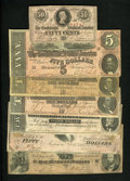 Confederate Notes:Group Lots, A Mix of 1863 and 1864 Notes. ... (Total: 7 notes)