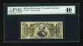 Fractional Currency:Third Issue, Fr. 1331 50c Third Issue Spinner PMG Extremely Fine 40....