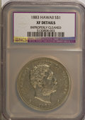 Coins of Hawaii: , 1883 $1 Hawaii Dollar--Improperly Cleaned--NCS. XF Details. NGCCensus: (37/204). PCGS Population (98/338). Mintage: 500,00...