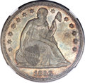 Seated Dollars, 1866 $1 Motto MS63 NGC....