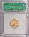 1910 $2 1/2 MS61 ICG. NGC Census: (1300/3935). PCGS Population (340/1827). Mintage: 492,000. Numismedia Wsl. Price for N...