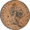 Colonials, 1773 1/2P Virginia Halfpenny, Period MS64 Red PCGS. CAC....