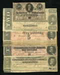 Confederate Notes:Group Lots, 1864 Issues.. ... (Total: 10 notes)