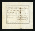 Colonial Notes:Connecticut, Connecticut Pay-Table Office £10 Mar. 5, 1783 Very Fine....
