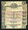 Confederate Notes:Group Lots, A Mix of 1861 Through 1863 Issues:. ... (Total: 6 notes)