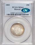 Coins of Hawaii: , 1883 25C Hawaii Quarter MS64 PCGS. CAC. PCGS Population (303/239).NGC Census: (173/196). Mintage: 500,000. (#10987)...