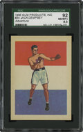 Boxing Cards:General, 1956 Topps Adventure Jack Dempsey #34 SGC 92 NM/MT+ 8.5. ...