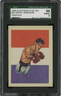 Boxing Cards:General, 1956 Topps Adventure Rocky Marciano #44 SGC 88 NM/MT 8....