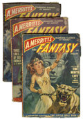 Pulps:Science Fiction, A. Merritt's Fantasy Group (Popular Publications, 1949-50)Condition: Average VG.... (Total: 3 Comic Books)