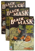 Pulps:Detective, Black Mask Group (Fictioneers Inc., 1943-44) Condition: AverageVG.... (Total: 3 Items)