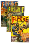 Pulps:Science Fiction, Captain Future Group (Better Publications, 1942) Condition: AverageFN.... (Total: 3 Items)