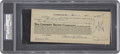 Autographs:Checks, Lefty Grove Signed Check PSA/DNA Certified Authentic Mint 9. ...