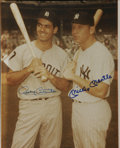 """Autographs:Photos, Mickey Mantle And Rocky Colavito Dual Signed 8"""" x 10""""Photograph...."""