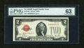 Small Size:Legal Tender Notes, Fr. 1503 $2 1928B Legal Tender Note. PMG Choice Uncirculated 63.. ...