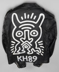 Fine Art - Painting, American:Contemporary   (1950 to present)  , KEITH HARING (American, 1958-1990). Untitled, 1989. Painted leather motorcycle jacket. 25 x 21 inches (63.5 x 53.3 cm). ... (Total: 4 Items)