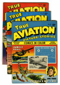 Golden Age (1938-1955):War, True Aviation Picture Stories #4 and 8-10 Group (Parents' MagazineInstitute, 1943-44) Condition: Average VF-.... (Total: 6 Items)
