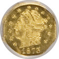 California Fractional Gold: , 1873 25C Liberty Octagonal 25 Cents, BG-728, R.3, MS64 NGC. NGCCensus: (4/11). PCGS Population (45/67). (#10555)...