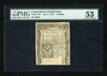 Colonial Notes:Connecticut, Connecticut June 7, 1776 1s PMG About Uncirculated 53....