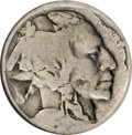 Errors, Undated 5C Type Two Buffalo Nickel--Double Struck, Rotated in Collar--VG8 NGC....