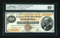 Large Size:Gold Certificates, Fr. 1176 $20 1882 Gold Certificate PMG Extremely Fine 40 Net....