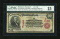 National Bank Notes:Maryland, Baltimore, MD - $20 1902 Red Seal Fr. 639 The National Union Bankof Maryland Ch. # (E)1489. ...