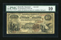National Bank Notes:Maryland, Rockville, MD - $10 1882 Brown Back Fr. 480 The Montgomery CountyNB Ch. # (E)3187. ...