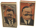 Political:Advertising, Theodore Roosevelt: Roosevelt and Eugene Foss Politically-ThemedCardboard Candy Boxes.... (Total: 2 Items)