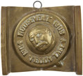 "Political:Advertising, Theodore Roosevelt: ""Teddy Taffy"" Brass Candy Mold...."