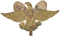 Political:Ferrotypes / Photo Badges (pre-1896), Harrison & Morton: Fantastic 1888 Mechanical Eagle PortraitBadge....