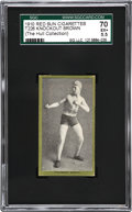 Boxing Cards:General, 1910 T226 Red Sun Knockout Brown SGC 70 EX+ 5.5....