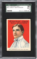 Baseball Cards:Singles (Pre-1930), 1915 Cracker Jack Christy Mathewson #88 SGC 96 Mint 9....