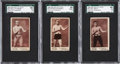"Boxing Cards:General, 1895 N310 Mayo Cut Plug Boxers ""Name at Bottom"" SGC-Graded High EndTrio (3)...."