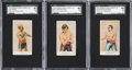 """Boxing Cards:General, 1910 V153 Robertson Candy """"Prize Fighters"""" SGC-Graded Trio (3)...."""