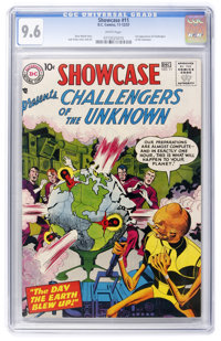 Showcase #11 Challengers of the Unknown (DC, 1957) CGC NM+ 9.6 White pages