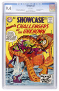 Silver Age (1956-1969):Superhero, Showcase #12 Challengers of the Unknown (DC, 1958) CGC NM 9.4 White pages....