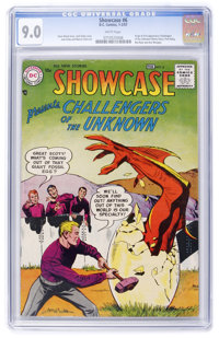 Showcase #6 Challengers of the Unknown (DC, 1957) CGC VF/NM 9.0 White pages