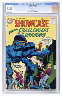 Showcase #7 Challengers of the Unknown (DC, 1957) CGC VF 8.0 White pages