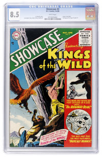 Showcase #2 Kings of the Wild (DC, 1956) CGC VF+ 8.5 White pages