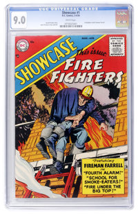 Showcase #1 Fire Fighters (DC, 1956) CGC VF/NM 9.0 White pages