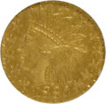 California Fractional Gold: , 1880 25C Indian Octagonal 25 Cents, BG-799X, R.3, MS65 NGC. NGCCensus: (8/1). PCGS Population (15/0). (#10650)...