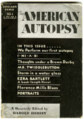 Pulps:Detective, The American Autopsy V1#1 (Headquarters Publishing Co., 1932)Condition: VG-....